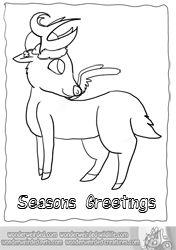 Cartoon Reindeer Coloring Pages Echo S Christmas Reindeer Cartoon