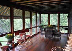 Traditional Porch Enclosure Systems Handcrafted from Solid Wood - YesterYear's Vintage Doors 3 Season Porch, Porch Enclosures, Traditional Porch, Vintage Doors, Solid Wood, Windows, Vintage Screen Doors, Window, Hardwood
