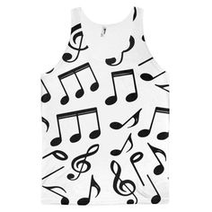 Music Notes Classic Fit Tank Top (unisex)