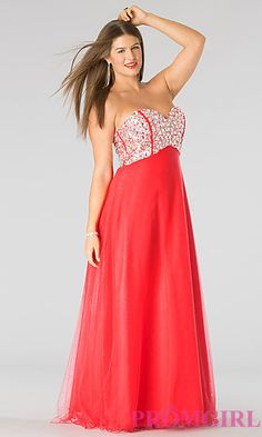 Classic Strapless Sweetheart Evening Gown at PromGirl.com