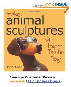 Make Animal Sculptures with Paper Mache Clay: How to Create Stunning Wildlife Art Using Patterns and My Easy-to-Make, No-Mess Paper Mache Recipe book do. Make Animal Sculptures with Paper Mache Clay: How Paper Mache Paste, Paper Mache Clay, Paper Mache Sculpture, Sculpture Ideas, Armature Sculpture, Paper Sculptures, Paper Mache Projects, Clay Projects, Paper Art
