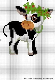 Thrilling Designing Your Own Cross Stitch Embroidery Patterns Ideas. Exhilarating Designing Your Own Cross Stitch Embroidery Patterns Ideas. Cross Stitch Cow, Cross Stitch Animals, Cross Stitch Charts, Cross Stitch Designs, Cross Stitch Patterns, Loom Patterns, Broderie Simple, Diy Broderie, Cross Stitching