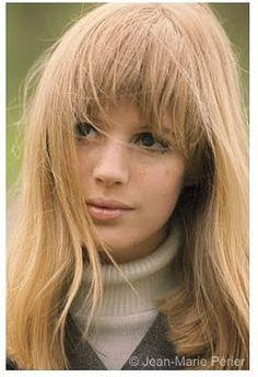 Marianne Faithfull with bangs