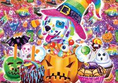 Lisa Frank - Halloween pup