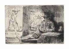 """Rembrandt Van Rijn """"The Golf Player"""" Etching Authenticated - Matted for Framing Rembrandt Etchings, Golf Art, Dutch Golden Age, Dutch Painters, Sport, Oeuvre D'art, Art Google, Les Oeuvres, Printmaking"""