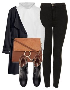 """""""Untitled #4982"""" by laurenmboot ❤ liked on Polyvore featuring Topshop, H&M and Chloé"""