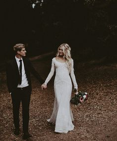 modest wedding dress with long sleeves from alta moda. photo by Ty French