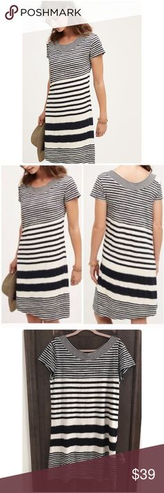 Anthropologie Maeve Haven stripe Dress NWT Haven stripe Dress by Maeve Anthropologie ❤️Fabulous pullover, shift silhouette striped dress with open neckline. Made of cotton, polyester, viscose. Anthropologie Dresses