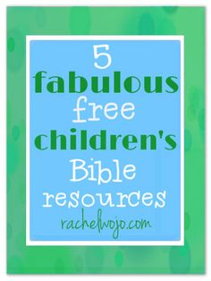 With school staring us in the face, one of my to-do items is to evaluate our family's resources for morning quiet time with God. Check out our list of FREE Bible Resources for Children.