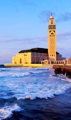 Famous Hassan II Mosque during the sunset in Casablanca, Morocco    |    20 Photos that Prove Morocco is a Dream Destination