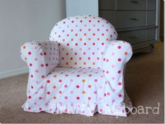 Merveilleux Diy Childrens Reupholstered Chair. No Tutorial, But Drape, Cut Pieces,  Baste, And Sewing :)
