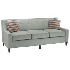 Have to have it. Stanton Cooper Olivia Hanson Seafoam Fabric Sofa with Throw Pillows $1256.99