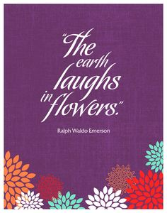 The Earth Laughs in Flowers 11x14 Print by HappyLittleGarden, $18.00