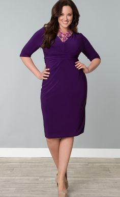 633da26c040 Julia Pleated Dress - Plus Size Clothing - Kiyonna