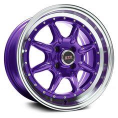 STR-RACING® - STR504 Purple with Machined Lip