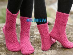 Socks with patterns Aran knitting scheme from Drops Design   Blog elisheva.ru