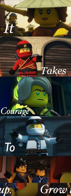 Ninjago Season 8  It was time travel that is why they look like this