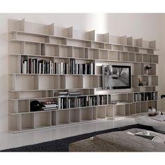 Libreria componibile laccata bianca Wally