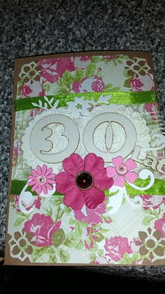 Kartka na 30 urodzinki