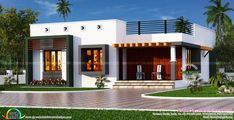 Simple house front view design designs elevation for single floor One Floor House Plans, Single Floor House Design, Best Modern House Design, Simple House Design, Bungalow House Plans, Bungalow House Design, House Design Photos, House Front Design, Modern Bungalow