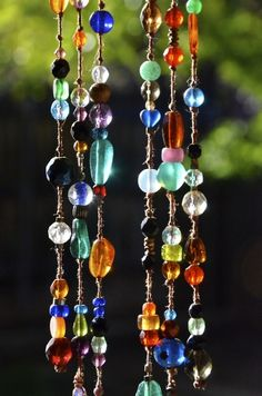Beading-jewelry or catching the light in a window
