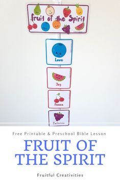 If you've been looking at a great way to help your child(ren) remember how to be good, my Fruit of the Spirit craft (with FREE printable) is perfect for you! #christianprintables #biblecraft #kidscrafts #fruitofthespirit Preschool Bible Lessons, Bible Crafts For Kids, Bible Lessons For Kids, Bible Activities, Easy Crafts For Kids, Preschool Activities, Sunday School Activities, Christian Kids, Fruit Of The Spirit