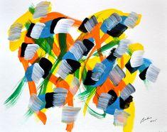 Marcel Barbeau, Sans titre 5, 2005, acrylique sur papier Marcel Barbeau, Post Painterly Abstraction, Colour Field, Palette, San, Canvas, Artwork, Painting, Canadian Artists