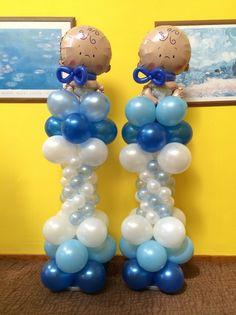 Baby boy #balloon column
