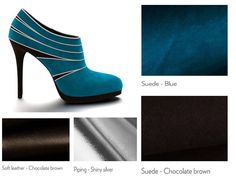 How about a blue-chocolate? Blue Chocolate, Pumps, Heels, My Design, Platform, Passion, Heel, Pumps Heels, Pump Shoes