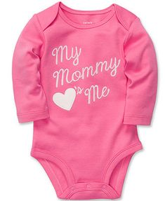Carter's Baby Bodysuit, Baby Girls Long-Sleeved Slogan Bodysuit