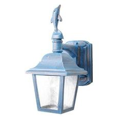"""Americana Dolphin Series 16.5"""" Wall Lantern Finish: Architectural Bronze by Melissa Lighting. $71.99. DL1736-AB Finish: Architectural Bronze Features: -Wall lantern.-Ripple glass panels.-Electronic ballast EBPL: 13 (four pin).-UL listed. Options: -Available in Black, White, Old Iron, Architectural Bronze, Rusty Nail, Old Bronze, Old World, Aged Silver, Patina Bronze and Old Copper finishes. Construction: -Cast aluminum construction. Specifications: -Accommodates (1) 60W Edison ..."""