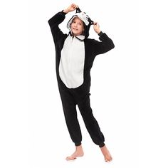 Black 3D Huskie Kids Kigurumi Pajamas – alfagoody Halloween Pajamas, Animal Pajamas, Animal Costumes, Girls Pajamas, Girl Humor, Animals For Kids, Club Dresses, Black Girls, Lounge Wear