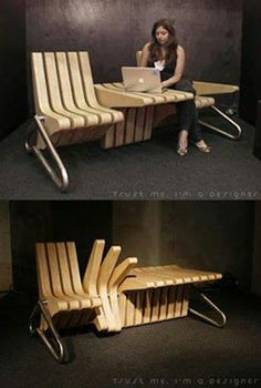 Genius - dual purpose. Would work really well as two chairs with a table in between. xx