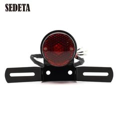 Home Objective Motorcycle Brake Stop Running Tail Light Rear Light Atv Dirt Bike Universal 12v 15 Led