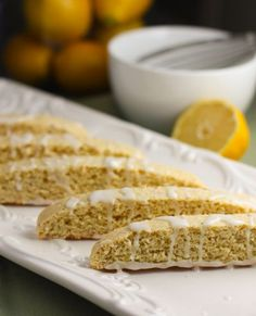 "Lemon Biscotti"". Easiest cookies to make and so pretty!"