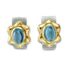 KAUFMANN de SUISSE | ❧ The Flowing Lines Blue Topaz Earrings