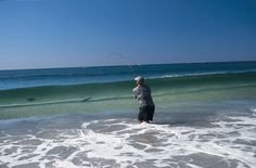 How to locate, stalk, and find the right surf for sight fishing stripers.