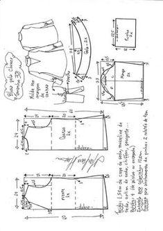 blusa gola choker e punhos largos - DIY - molde, corte e costura - Marlene Mukai