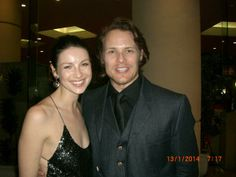 Fan photo of Sam Caitriona from InStyle Golden Globes after party.