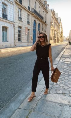 Spring Summer Fashion, Spring Outfits, Autumn Fashion, Chic Outfits, Fashion Outfits, Womens Fashion, Mode Ootd, Looks Chic, All Black Outfit