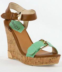 'Bucco Severina Sandal' #buckle #wedges #shoes www.buckle.com