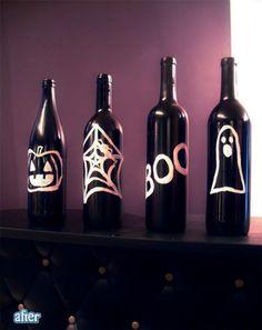 spray painted bottles
