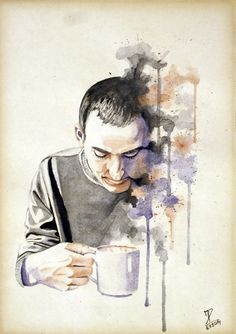 MoP_Coffee_02, Media: Watercolor on paper, Size: A4 (21 x 30 cm) by Miro Zgabaj https://www.facebook.com/pages/Miroslav-Zgabaj-Drawing-Painting/114161501988357?ref=aymt_homepage_panel
