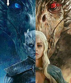 Essa pintura tb ficou show do rei da noite e a Dennerys rainha do fogo ou dos dragões