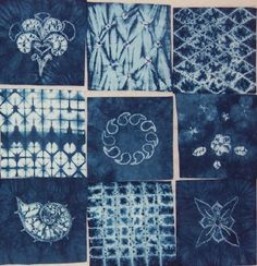 Shibori Samples 2 by Tela shibori, via Flickr