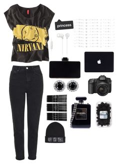 """""""Untitled #28"""" by hannah-s-b on Polyvore featuring Topshop, Chicnova Fashion, Sony, Chanel, Vans and Monki"""