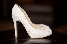THESE ARE THE PERFECT WEDDING SHOES...I love them like this, but what if the lace could be the red I want? WHAT IF!? #weddingshoes