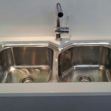 oliveri australian made nu petite double bowl undermount sink - Oliveri Undermount Kitchen Sinks