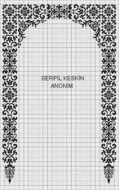 Cross Stitch Art, Cross Stitch Embroidery, Cross Stitch Patterns, Baby Knitting Patterns, Knitting Designs, Prayer Rug, Islamic Art, Prayers, Bullet Journal