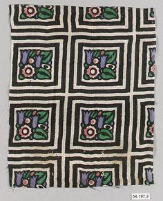 Album Manufacturer:      Wiener Werkstätte  Date:      early 20th Century  Culture:      Austrian  Medium:      Cotton, silk, wool and linen